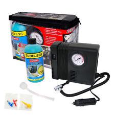 Emergency Tubeless Repair Tire Tyre Pump Inflator Compressor + Sealant Kit /2118