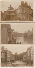 1920 unused lot of 6 x postcards of Louth disaster