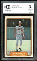 1982 Fleer #176 Cal Ripken Jr Rookie Card BGS BCCG 9 Near Mint+