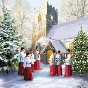 St Ann's Hospice Charity Christmas Cards 'Choirboys' Pack of 10 Cards