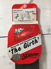 """New 50"""" Aerborn Girth  with Cushion Web - Dark Brown Color - Washable"""