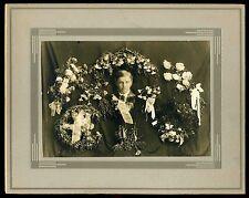 Vintage 1915's Post Mortem Son Memorial Memory Cabinet Card Deceased at 12 years