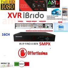DVR NVR XVR IBRIDO NVR AHD TVI CVI 16 CH CANALI FULL HD IP CLOUD 3G WIFI 5mpx