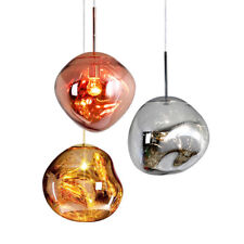 Modern LED Pendant Light Irregular Melt Lava Ball Mirror Kitchen Cafe Lamp Decor