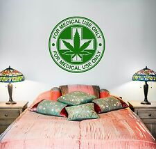 Wall Vinyl Medical Maryhuana Stamps Mural Vinyl Decal (z3387)