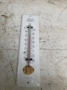 Vintage Acu-Rite Easy Reading Aluminum Wall Thermometer Made in Lake Geneva Wi.