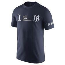 Air Jordan Retro 1 Derek Jeter Re2pect Navy Blue T-Shirt Mens Size 2X-Large New