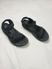 TEVA Men's Terra Multisport Sandals Sz 8 Black White/Blue Striped