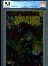 SPIDERMAN MAXIMUM CLONAGE OMEGA #1 CGC MT 9.8 WRAPAROUND COVER BROWN COVER ART
