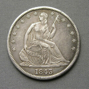 1843 Seated Liberty Half Dollar