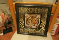 """Shadow In The Night Elusive Framed Cat Picture By Ruane Manning 12""""X12"""""""