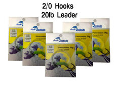 5 Twisted Paternoster Fishing Rigs 20lb 2/0 Octopus Beak Hooks Snapper Pinky Rig