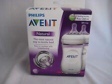 Philips AVENT BPA Free Natural Feeding 9 oz Bottles 1M+ Box of 2 Feeding Bottles