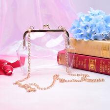 women pvc mini chain bag laser transparent clear tote shoulder crossbody handbag