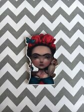 5pc. Frida Mexican Folk Art resin Planar Flatbacks, cabochon, bow center, charm