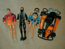 3 Hasbro Action Man Action Figures and Vehicle C-022E