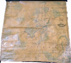 H.F. Walling Map of the City of Boston and its Environs 1866 Very Good 62x61