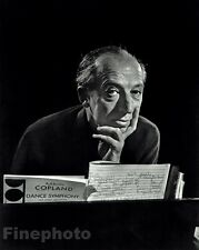 1956 Vintage 16x20 AARON COPLAND Movies Film Composer Photo Art By YOUSUF KARSH