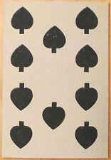 Circa 1865-1880 Great Mogul Belgian Playing Card 10 of Spades