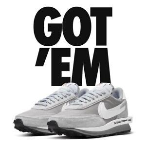 Nike LD Waffle x Sacai x Fragment Light Smoke Grey DH2684-001 Mens 11 CONFIRMED