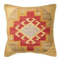 Fair Trade Kohra Kilim Cushion Covers Handwoven Wool/Cotton Sofa Decor