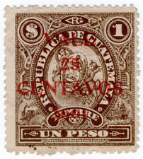 (I.B) Guatemala Revenue : Duty Stamp 25c on $1 OP