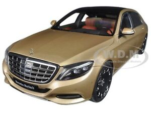 MERCEDES MAYBACH S CLASS S600 CHAMPAGNE GOLD 1/18 MODEL CAR BY AUTOART 76294