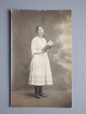 R&L Postcard: Early 20th C. Fashion Clothes, Portrait of Lady Reading Book