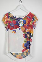 DESIGUAL BLUS MOJITO Women's SMALL Sleeveless Floral Thin Blouse Top 11896_mm