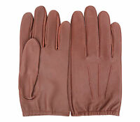 MEN'S POLICE DRIVING GLOVES CHAUFFEUR LAMBSKIN LEATHER DRESS FASHION SLIM FIT