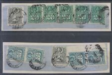 "CHILE 1881 PACIFIC WAR PERU Sc 20, 23 & 24 TEN STAMPS TWO PIECES ""IQUIQUE PRAL"""