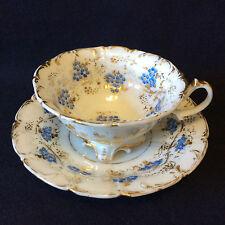 Tasse et sous-tasse en porcelaine allemande début XIXème Allemagne DEUTSCHLAND