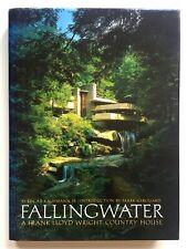 """FALLINGWATER"" RARE 1986 1ST EDTN FRANK LLOYD WRIGHT MODERNISM ARCHITECTURE BOOK"