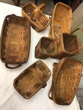 Longaberger Ugly Basket Lot (8)