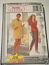 Burda-3733 Pants Skirt Jacket Blouse Sewing Pattern Size 8 to Plus Size 18 Uncut