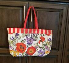 Estee Lauder Flowers Floral Red Orange Large Tote Shopper Bag NEW 2019