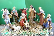 Christmas Nativity Set 45cm 11 Piece Beautifully Decorated - Church or School