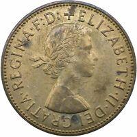 1967 ONE PENNY OF ELIZABETH II. /One Penny Bronze    #WT20379