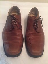 Calvin Klein Horatio Bike square toe Oxford dress shoes brown Laces mens 10.5 M