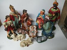 "Beautiful 12"" Scale Old Japan Christmas Nativity Set"