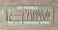 ETCHED DOUBLE ARM WINDSHIELD WIPER DIESEL DETAIL SET #4 HO SCALE KV MODELS