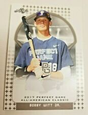 BOBBY WITT Jr Rare 2017 Perfect Game All American BONUS Rookie Extremely Limited