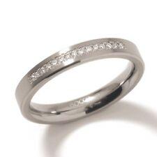 TITANIUM RING WITH DIAMONDS / BOCCIA TITANIUM / 0120-04 / -40€ OFF!!!
