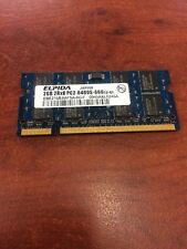 laptop ram menory DDR2 2GB 2Rx8 PC2-6400s-666-12-E1 Ram 204pin iMac MacBook