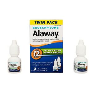 Alaway antihistamine eye drops, 0.34 ounces, twin pack Exp. 10/2021