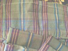 RALPH LAUREN Adriana Plaid Queen Flat sheet Std. Case Pair Olive Green