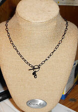 """AUTHENTIC ORIGAMI OWL 20"""" BLACK TOGGLE CHAIN  NEW"""