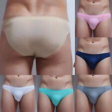 Seamless Men's Underwear Boxer Briefs Breathable Bulge Underpants Shorts Trunks