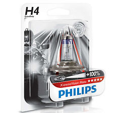 Lamp Philips P43t Socket 12V 60/55W clear H4 Extreme Vision Moto 100% More Light