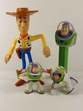 New listing Disney Pixar Figure Character Toy Lot Toy Story Woody Buzz Lightyear Pez Mini